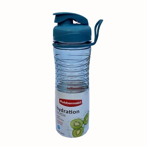 Botella Reutilizable Rubbermaid 600ml Hydra Celeste