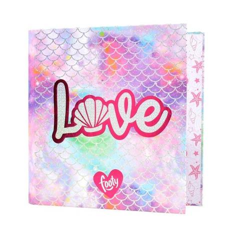 Carpeta Nº3 3x40 Cartón Footy FC-220 Love rosa