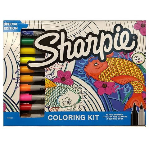 Marcador Sharpie Coloring Kit Set x20+1 Punta Fina y Ultrafina
