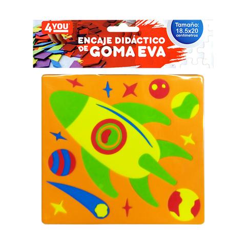 Goma Eva Set Encastre Surtido (18.5x20) Nave Espacial
