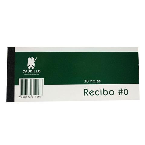 Talonario Recibo N°0 Caudillo/ Nepaco