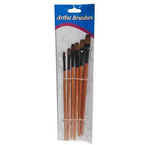 Pack de Pinceles Artist Brusher x6 Plano