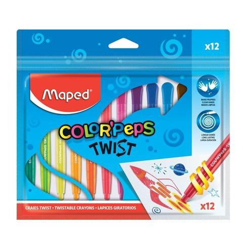Lapiz Maped Cera Giratorio x12 (Twist)