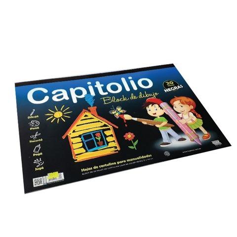 Block de dibujo Nº6 Negro Capitolio (20h)