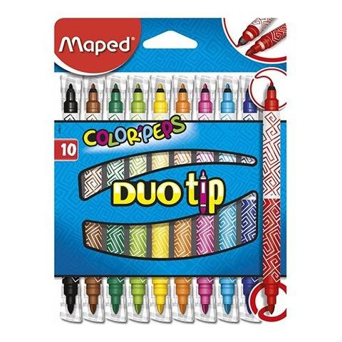Marcador Maped Duo Tip x10 (Dos Puntas)