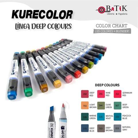 Marcador Kurecolor - Línea: Deep Colours (colores profundos)