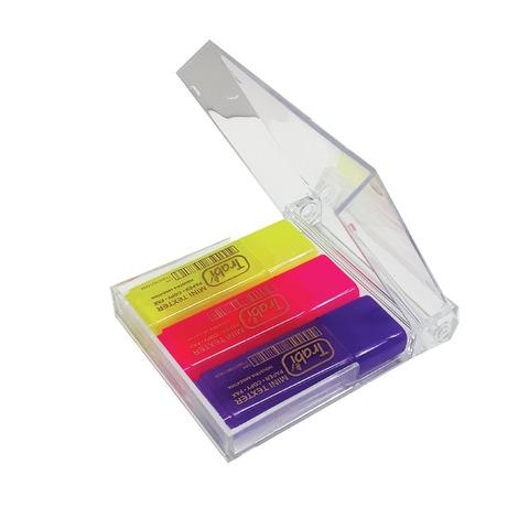 Resaltador Trabi Mini x3 con Estuche Plástico