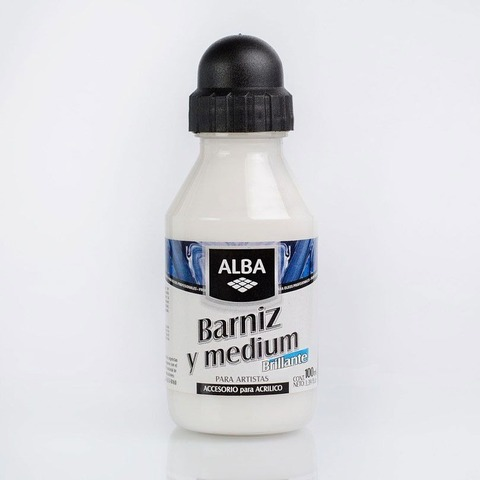 Barniz y Medium Alba Brillante x100ml