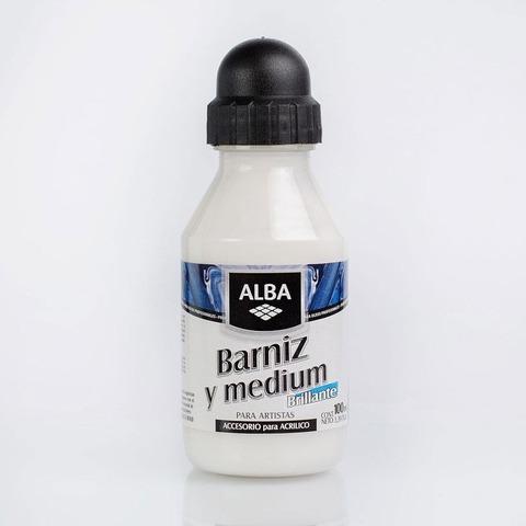 Barniz y Medium Alba Brillante 100ml