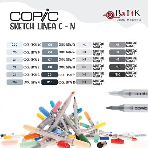 Copic Marcador Sketch  Línea C - N