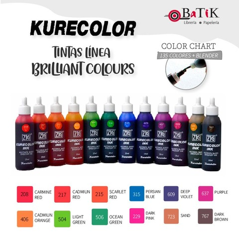 Kurecolor Tinta Línea: Brilliant Colours (colores brillantes)