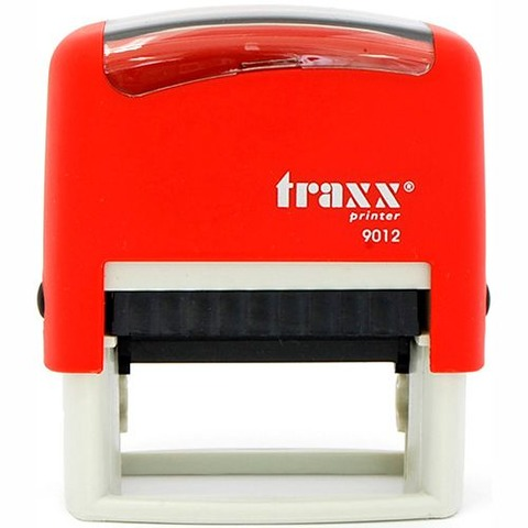 Sello 4 Líneas + Aparato Traxx 9012 Rojo