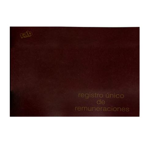 Libro Rab Reg. único de Remuneraciones TF-24 Folios