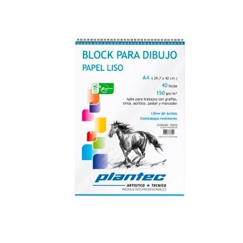Block Plantec A4 Liso 150gr 40h Espiral Superior