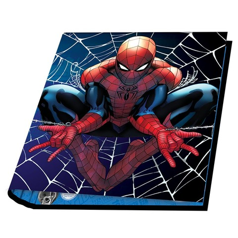 Carpeta Nº3 3x40 Mooving Spiderman Fondo Telaraña