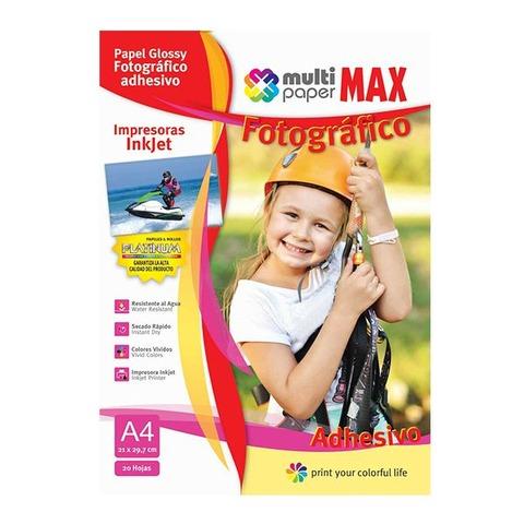 Hoja A4 Papermax Glossy Adhesiva x20 (Fotografico)
