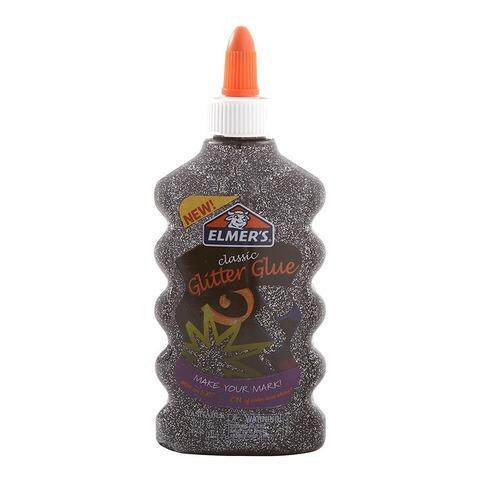 Adh. Elmers Glitter 177 ml Negro