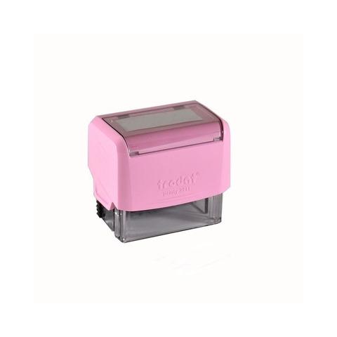 Sello 3 Líneas + Aparato Trodat 3911 Rosa pastel