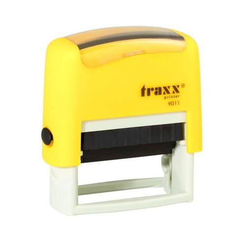 Promo sello completo Traxx (9011) + 3 líneas de texto Amarillo