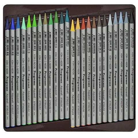 Lápiz Koh-i-noor Progresso Acuarelable Lata x24 (todo grafito-sin madera)