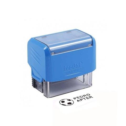 Promo sello Infantil Azul  Dibujo + texto