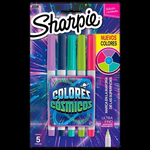 Marcador Sharpie Cosmico Set x 5 Ultrafino