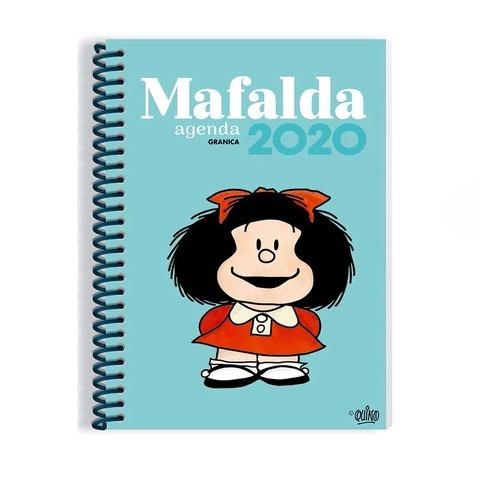 Agenda 2020 Granica Lic. Mafalda Semanal Nº8 Espiralada Turquesa