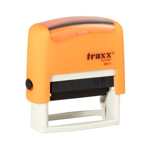 Promo sello completo Traxx (9011) Naranja + 3 líneas de texto