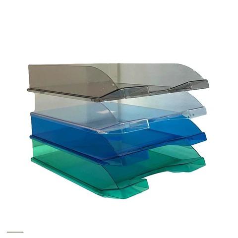 Bandeja Papelera Liggo A4 Color Translúcida