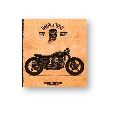 Carpeta Nº3 3x40 Cartón Dibujos Onix Moto Retro