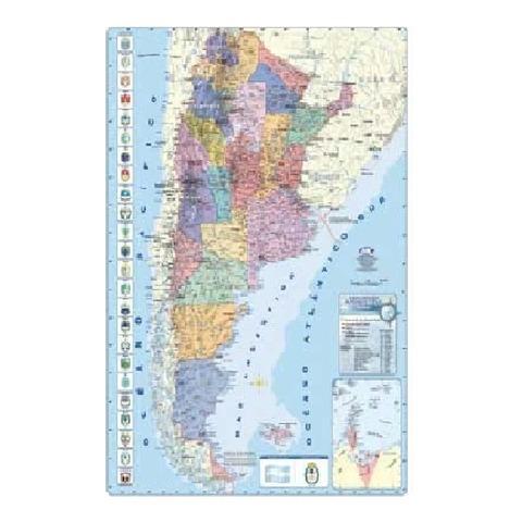 Mapa Mural Laminado República Argentina Político