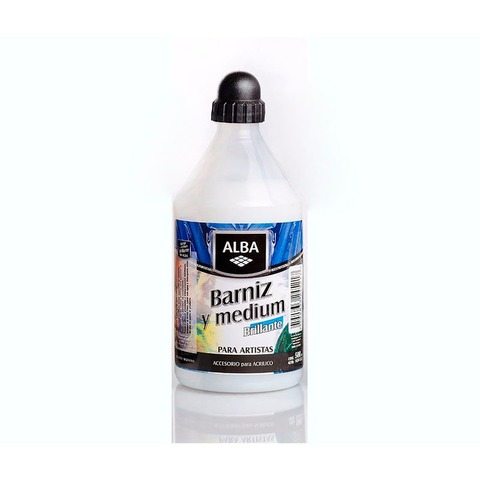 Barniz y Medium Alba Brillante 500ml
