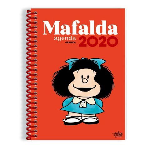 Agenda 2020 Granica Lic. Mafalda Semanal Nº8 Espiralada Roja