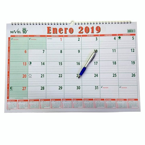 Calendario 2019 Nivel10 37x55cm (3350)
