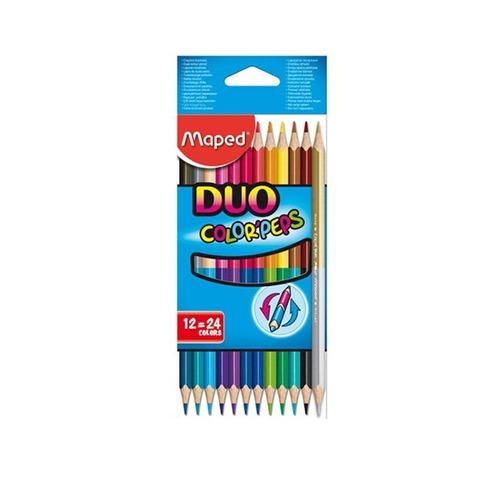 Lápiz Maped Colorpeps Bicolor x12 (24 Colores)