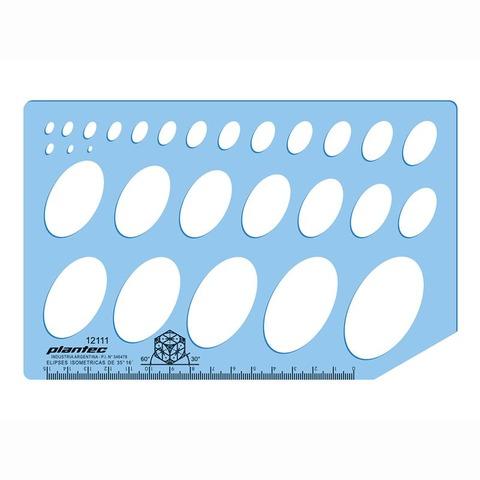 Plantilla Plantec 2111 Elípses Isométricas