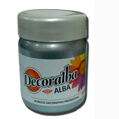 Acrilico Alba Decoralba 200ml Perlado Plata
