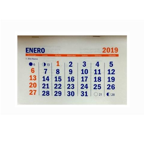 Calendario 2019 10x15cm