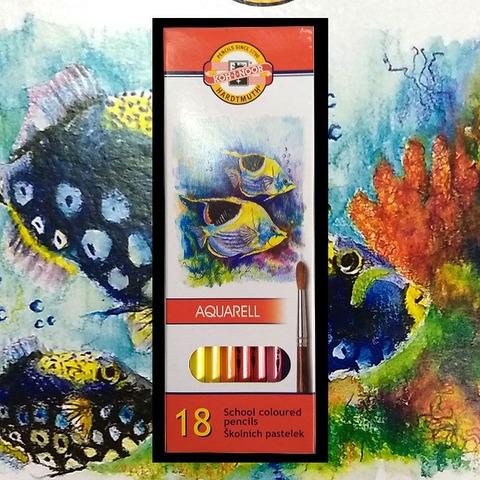Lápiz Koh-i-noor Acuarelable Fish Cartón x18