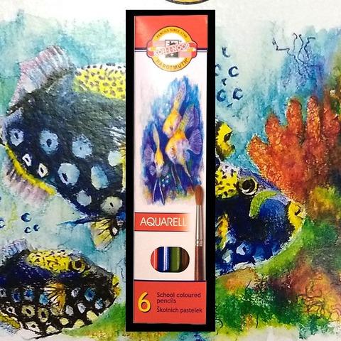 Lápiz Koh-i-noor Acuarelable Fish Cartón x 6