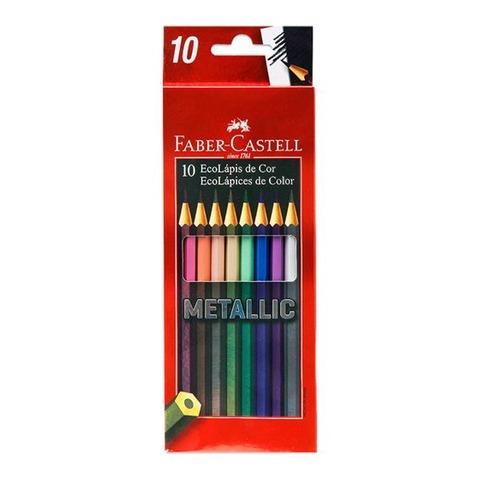 Lápiz Faber-Castell Ecolápiz Metallic x10