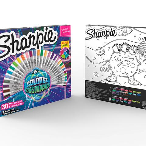 Marcadores Sharpie Ruleta Set x30 Finos-Ultrafinos Cosmicos
