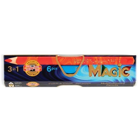 Lápiz Koh-i-noor Magic Cartón x 6 Largos (Lápiz Multicolor)