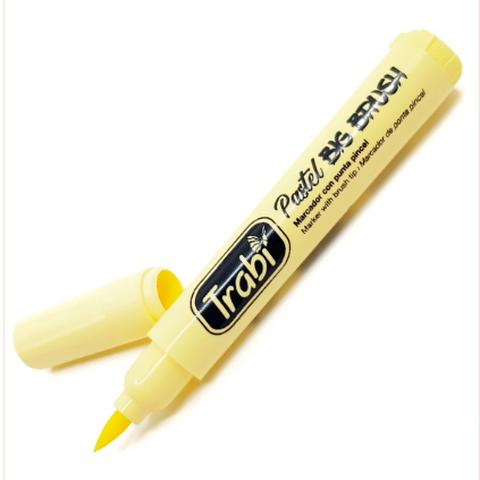 Resaltador Trabi Big Brush Pastel Amarillo