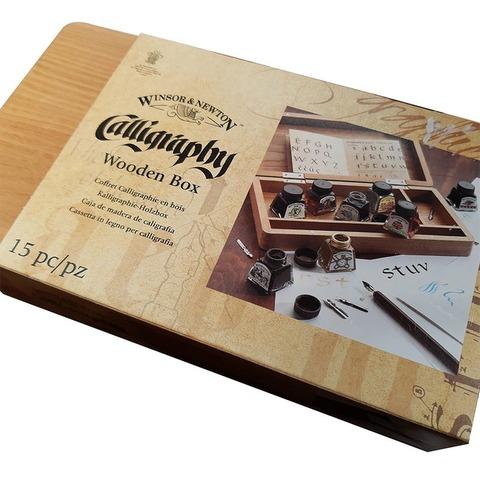 Set de Caligrafía Winsor & Newton Caja de madera