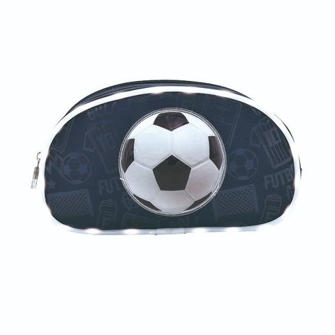 Cartuchera Canopla Footy 11014 Soccer 2 cierres c/luz led Azul