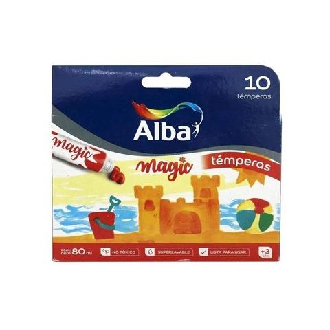 Tempera  8 ml.Alba Magic caja x10 colores