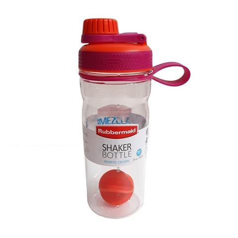 Botella Reutilizable Rubbermaid 600ml Shaker Naranja y fucsia