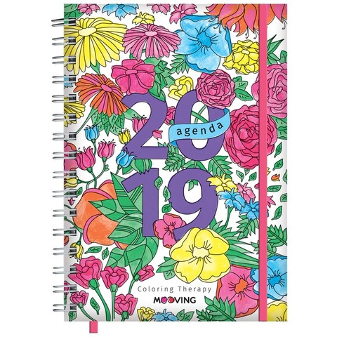 Agenda 2019 Mooving 15x21 Coloring Therapy