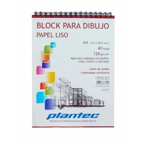 Block A5 Plantec Boceto Hojas Blancas 120